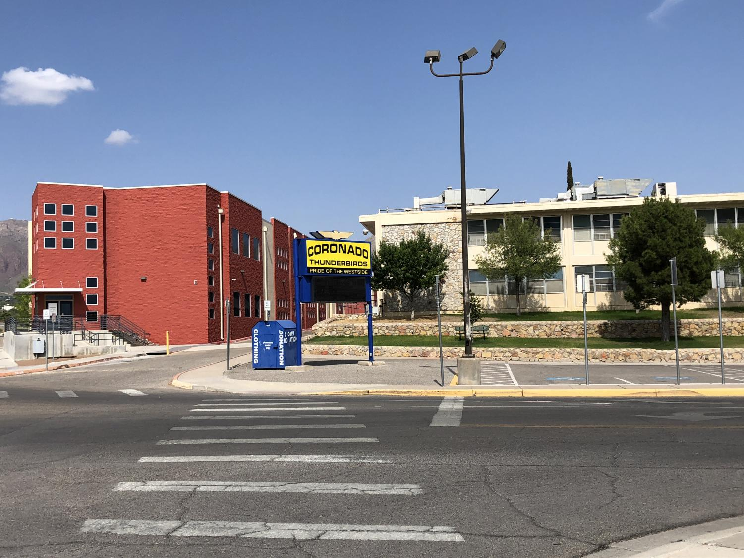 Coronado High School is now empty of students, but only until August 13.