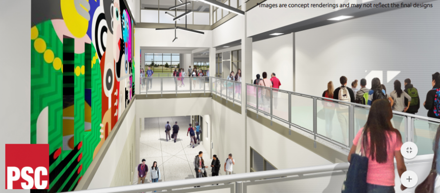 Interior site plans aim to model the 21st Century learning style.