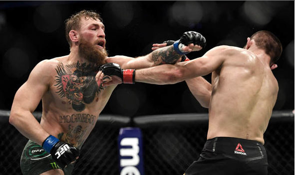 McGregor and Nurmagomedov fight for the lightweight championship at UFC 229.