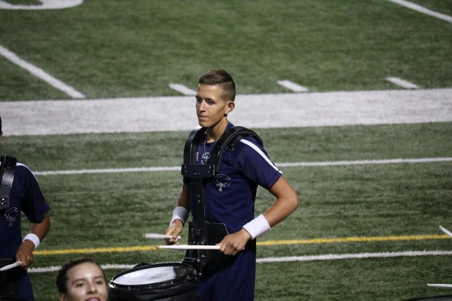 Reed Limberg juggles band and ROTC his senior year.