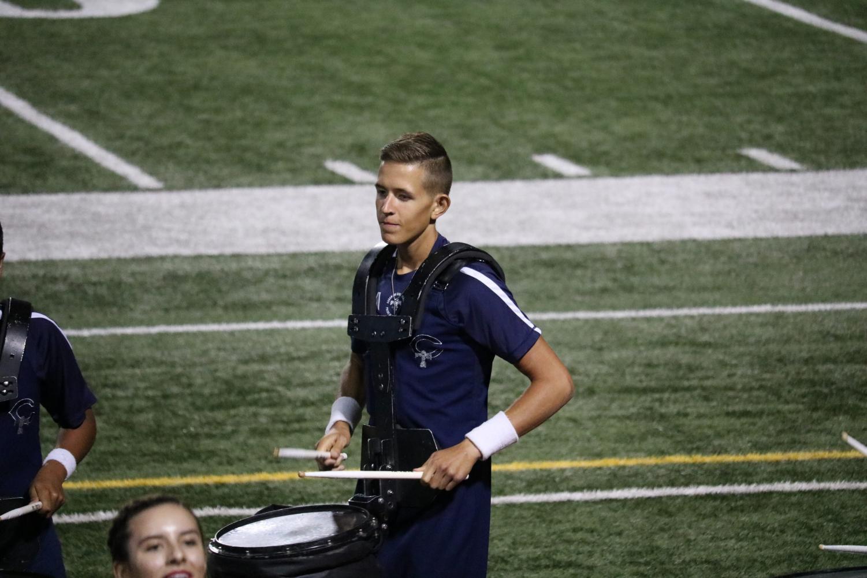 Reed Limberg juggles band and ROTC his senior year.