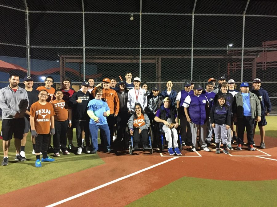 The baseball boys celebrate a successful night with the Rockies and Longhorns.