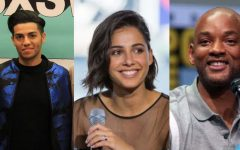 Mena Massoud, Naomi Scott, and Will Smith star as Aladdin, Jasmine, and Genie respectively.