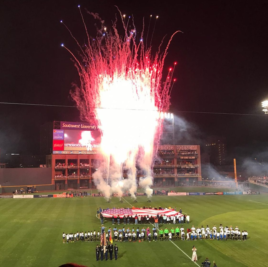 Fireworks+kick+off+the+inaugural+opener+for+Locomotive+FC.+