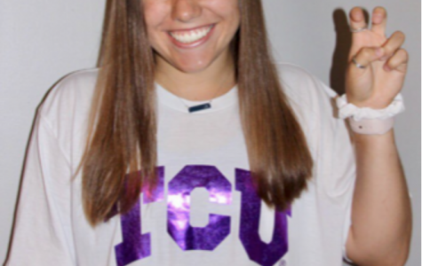 TCU commit Alyssa Heist poses in her future volleyball uniform.