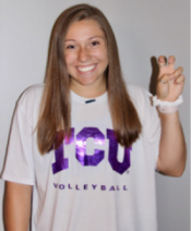 Junior receives scholarship to play volleyball for TCU