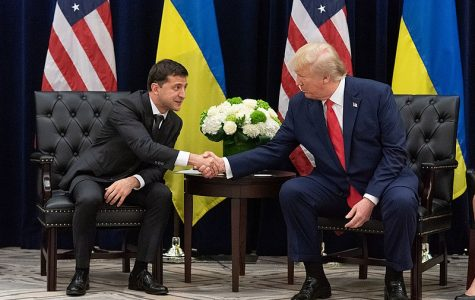 President Trump meets with Ukrainian President Volodymr Zelensky during a United Nations conference on Sept. 25, merely a day after House Speaker Nancy Pelosi announced an impeachment inquiry stemming from an earlier conversation between the two.