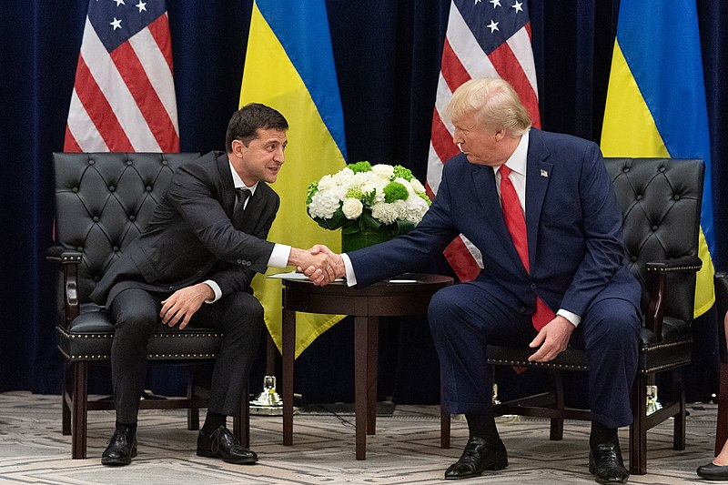 President+Trump+meets+with+Ukrainian+President+Volodymr+Zelensky+during+a+United+Nations+conference+on+Sept.+25%2C+merely+a+day+after+House+Speaker+Nancy+Pelosi+announced+an+impeachment+inquiry+stemming+from+an+earlier+conversation+between+the+two.