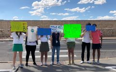Students lead climate change protest