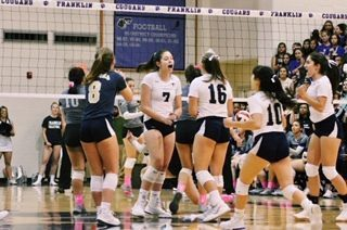 The volleyball team's energy during a game is practically palpable.