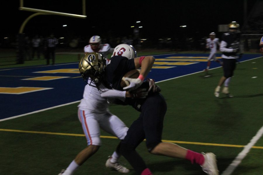 Coronado heads for a touchdown, one of many that occurred during the game.