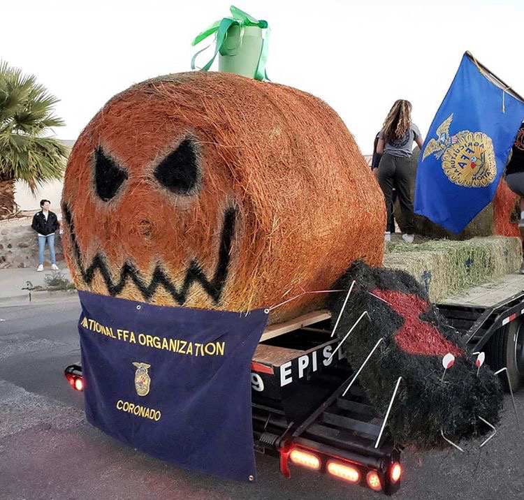 The homecoming parade drew out creativity and school spirit with the creation of colorful floats.