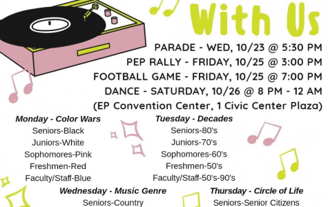 All of the events surrounding homecoming are summed up in this flyer.