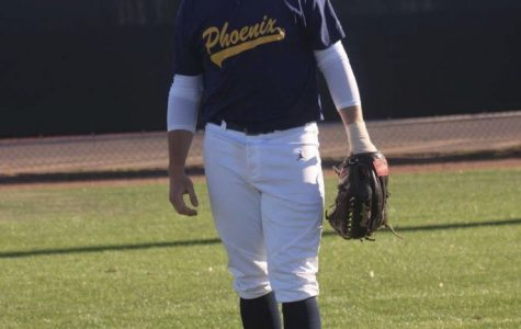Dom Grissom, 2017 graduate, spent a year at Phoenix College before signing with Grand Canyon University, a Division I program.