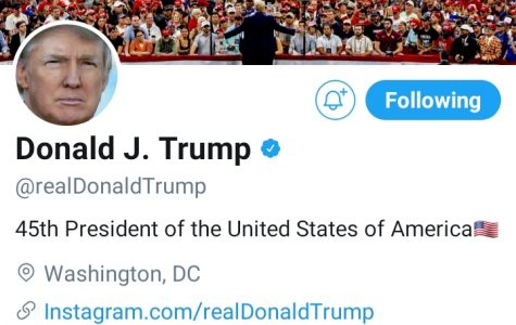 President Donald Trump's twitter account is a platform where he often expresses his opinion and gives updates on his administration.