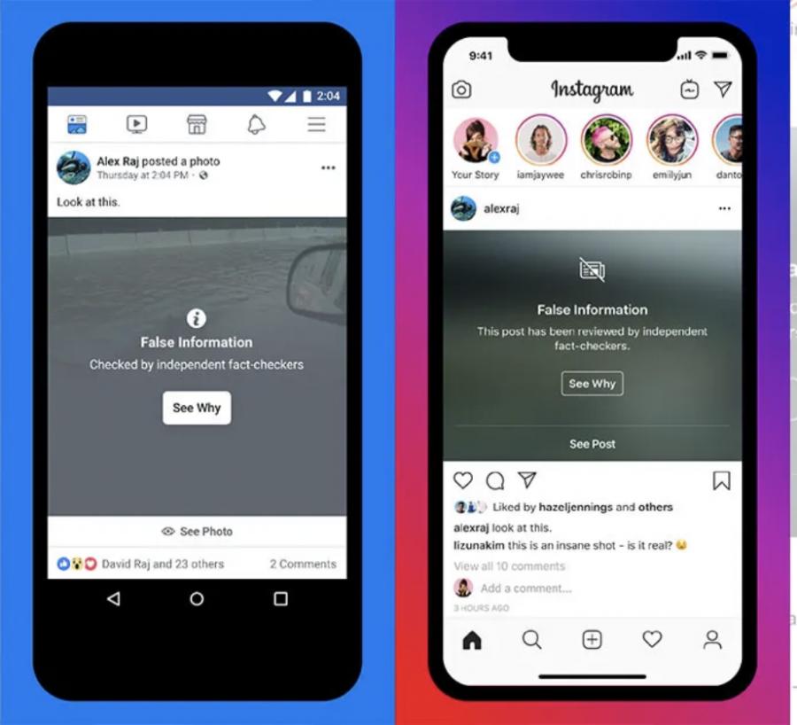 Instagram+and+Facebook+will+begin+warning+users+of+sharing+false+information.
