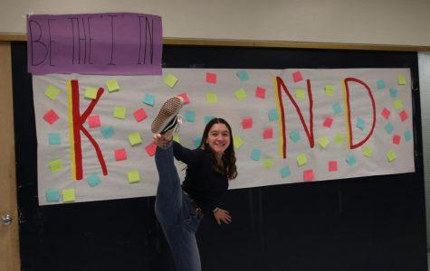 Senior Anna Nunez spreading kindness throughout the campus.