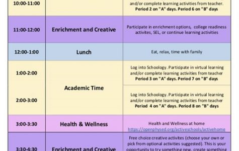 The new schedule shortens classes to one hour each and provides
