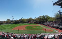 Foley Field, the Georgia University baseball field,  prepares for a game earlier this year prior to the season being cut short.