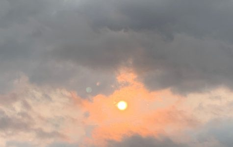 The red sun and the dark clouds indicate that air pollution form the California wildfires had traveled to El Paso. Though we could do nothing about the situation at the time, we can make conscious choices daily to reduce the amount of pollution we produce.