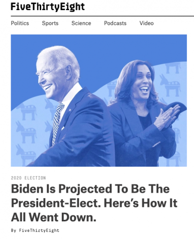 On Nov. 7, news outlets declared Joe Biden and Kamala Harris the likely next president and vice president.