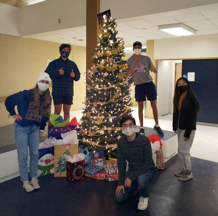 Student+Council+found+ways+to+bring+the+holiday+spirit+to+the+community%2C+such+as+decorating+the+Christmas+trees+on+campus.+The+most+impactful+holiday+event+might+be+Holiday+Blessings%2C+in+which+they+sent+gifts+to+children+during+an+unusual+year.