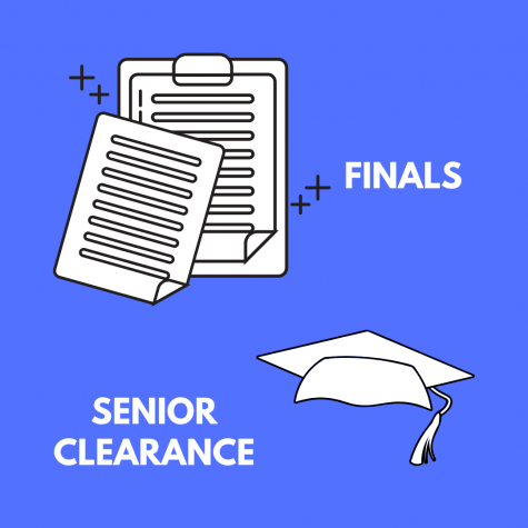 Seniors will start off finals early to allocate time for senior clearance. Underclassmen will start finals several days later.