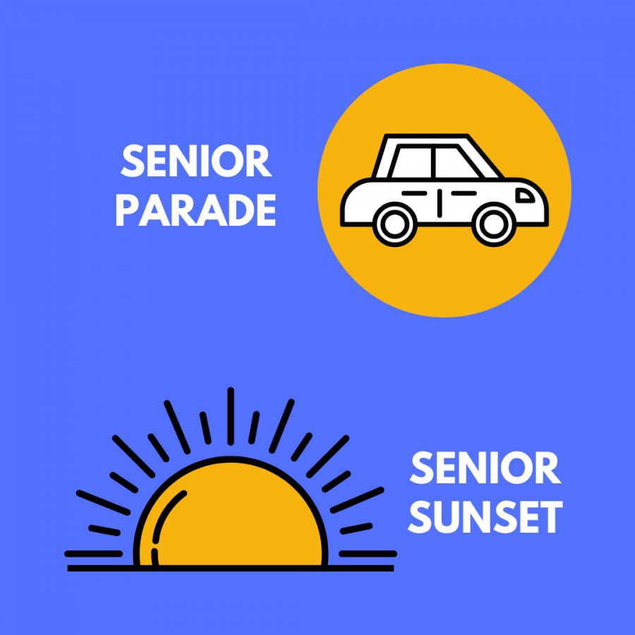 Two exciting senior events, the senior parade and the senior sunset, will be held on June 10.