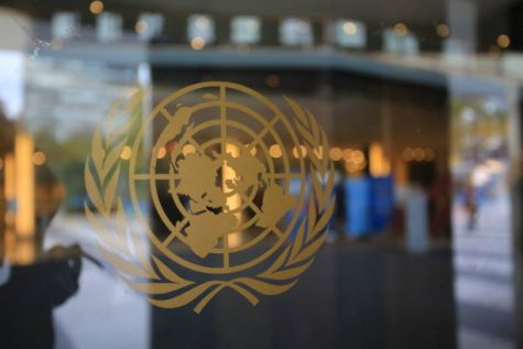 Model UN is an environmen that encourages students to engage in a simulation of international politics.